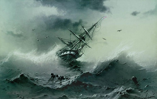 shipwrecks and storms