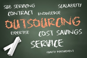 "Chalkboard ""Outsourcing"""