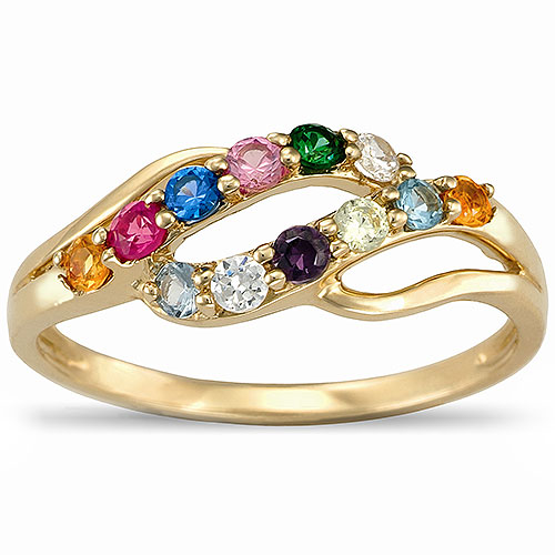 Birthstone ring a beautiful gift for your mother for Walmart jewelry mothers rings